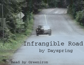 Infrangible Road cover: Impala driving down the road.